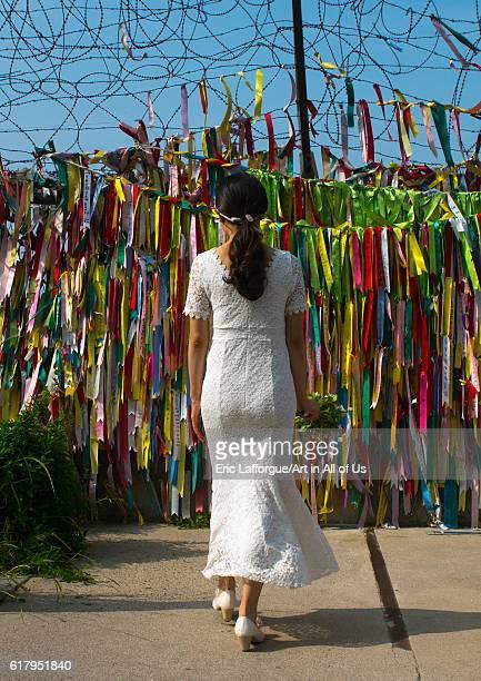 South korean woman called juyeon on the north and south korea border sudogwon paju South Korea on May 31 2016 in Paju South Korea
