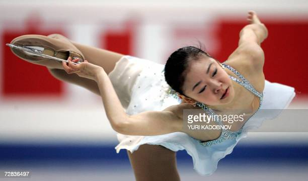 South Korean YuNa Kim performs her free program for the first place at the figure skating ISU Grand Prix final in St Petersburg 16 December 2006 AFP...