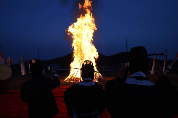KOR: South Koreans Celebrate Daeboreum Fire Festival