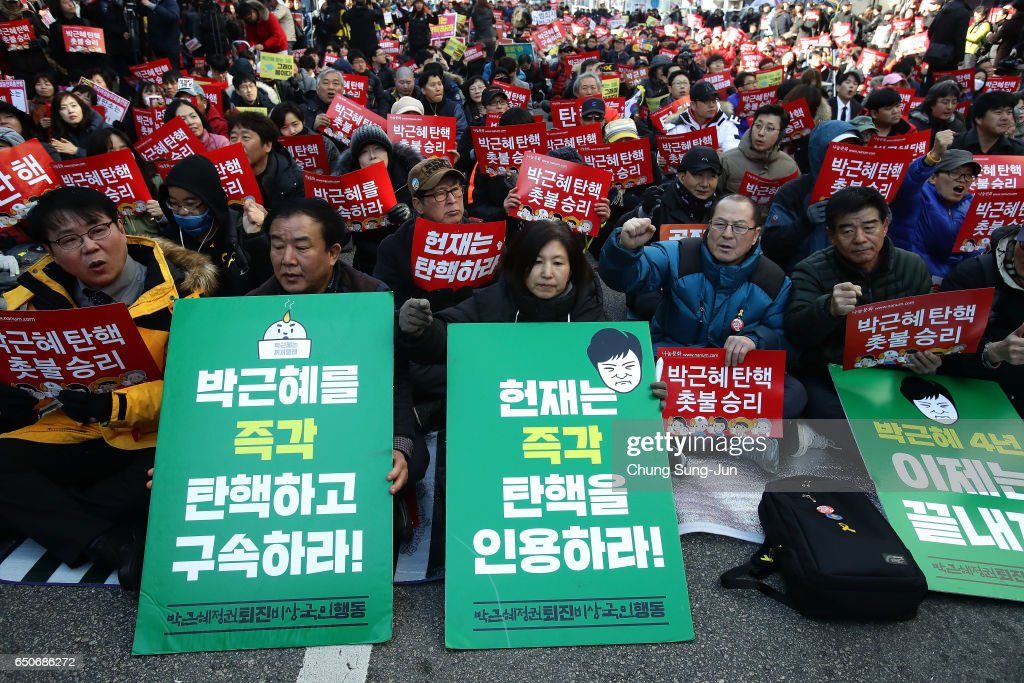 Court To Announce Impeachment Ruling Of South Korean President Park : News Photo