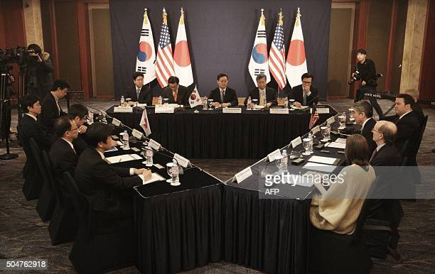 South Korea's delegation led by Special Representative for Korean Peninsula Peace and Security Affairs Hwang Joon-kook , US delegation and Japan's...