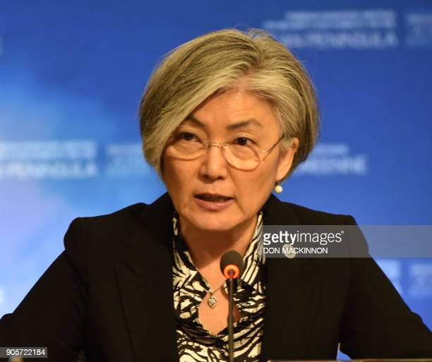 South Korea's Foreign Minister Kang Kyungwha takes part in the 'Vancouver Foreign Ministers Meeting on Security and Stability on the Korean...