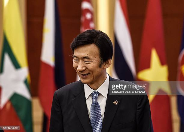 South Korea's Foreign minister Yun Byung-se arrives to address the Republic of Korea ministerial meeting during the 48th Association of Southeast...