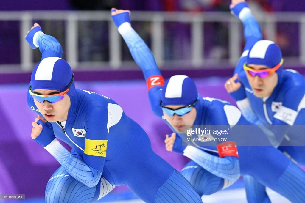 TOPSHOT-SSKATING-OLY-2018-PYEONGCHANG : News Photo