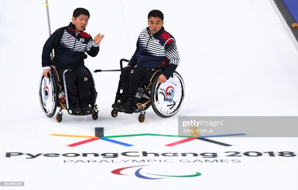 CURLING-OLY-PARALYMPIC-2018-PYEONGCHANG : News Photo