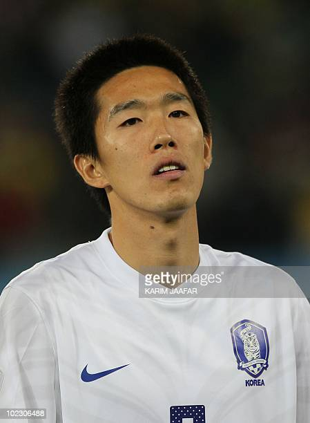 South Korea's midfielder Kim JungWoo is pictured before the Group B first round 2010 World Cup football match Nigeria versus South Korea on June 22...
