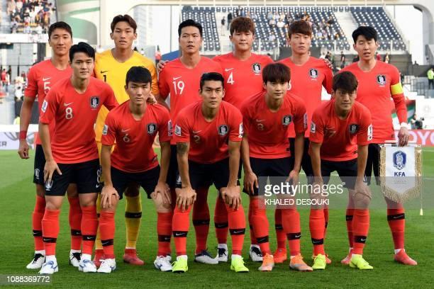 South Korea's midfielder WooYoung Jung South Korea's goalkeeper Seunggyu Kim South Korea's defender Younggwon Kim South Korea's defender Minjae Kim...