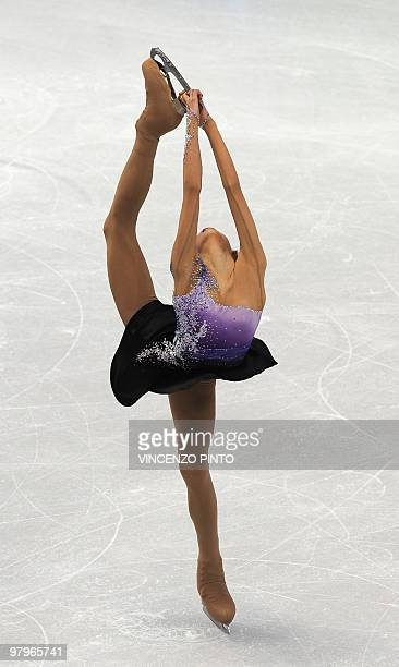 South Korea's MinJung Kwak competes in the 2010 Winter Olympics women's figure skating short program at the Pacific Coliseum in Vancouver on February...