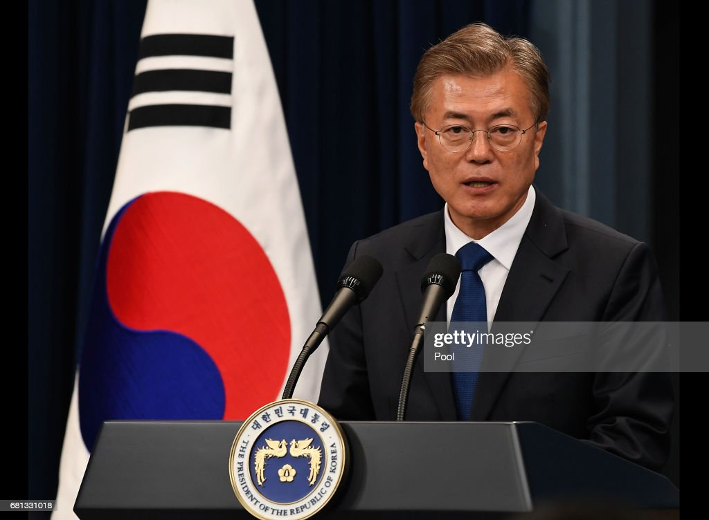 Newly Elected Moon Jae-in Starts His Presidency : News Photo