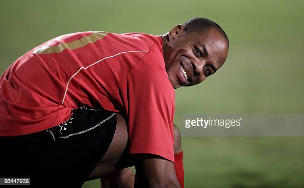 South Korea's Pohang Steelers' Brazilian striker Denilson Martins Nascimento attends a training session in Doha on October 27 on the eve of their AFC...