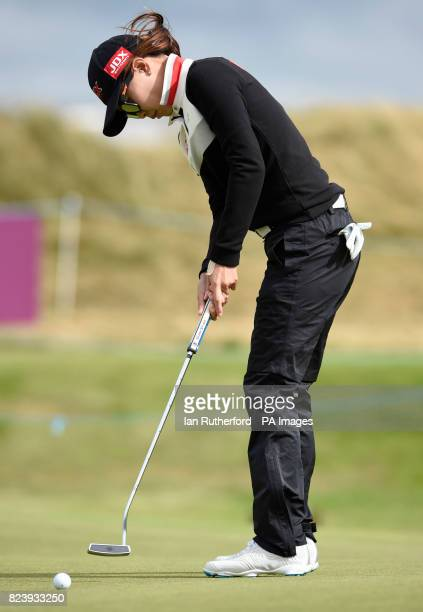 South Korea's Sun Young You putt's at the 3rd during day two of the Aberdeen Asset Management Ladies Scottish Open at Dundonald Links North Ayrshire