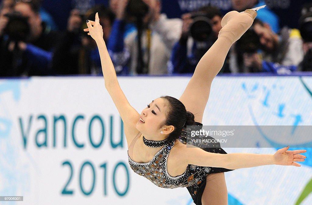 South Korea's Yu-Na Kim performs in the : News Photo