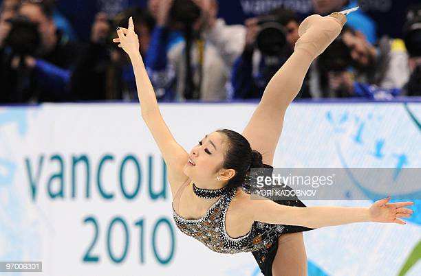 South Korea's YuNa Kim performs in the Ladies' Figure Skating Short Program in Vancouver during the 2010 Winter Olympics on February 23 2010 AFP...