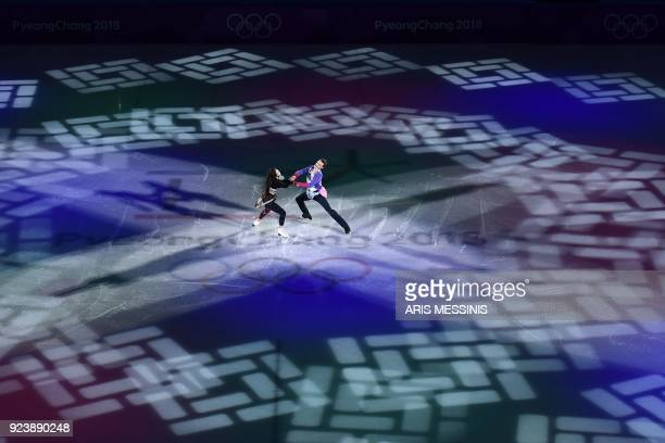 South Korea's Yura Min and South Korea's Alexander Gamelin perform during the figure skating gala event during the Pyeongchang 2018 Winter Olympic...