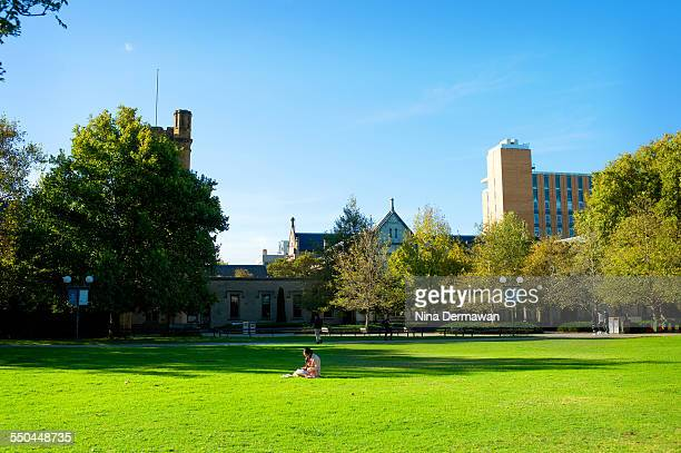 South Lawn in Autumn Melbourne University Parkville Campus 12th April 2015