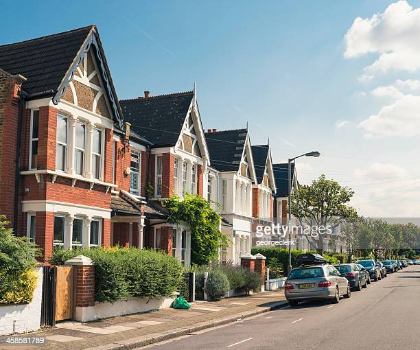 south london - victorian housing - terraced field stock pictures, royalty-free photos & images
