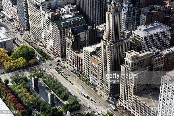 South Michigan Avenue from above, Chicago