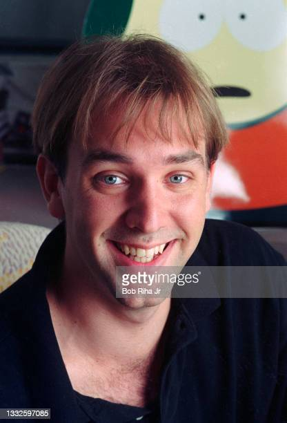 South Park co-creator Matt Stone, at their studio office, August 19, 1997 in Los Angeles, California.