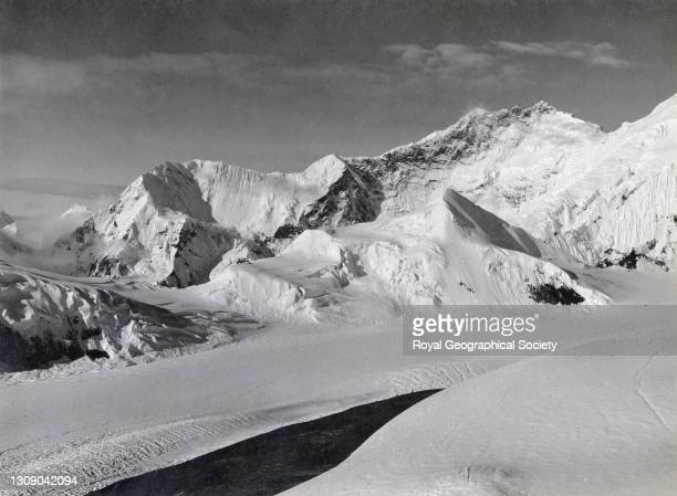 South peak and east ridge of Mount Everest from peak above advanced camp. By George Leigh Mallory. Mount Everest Expedition 1921.