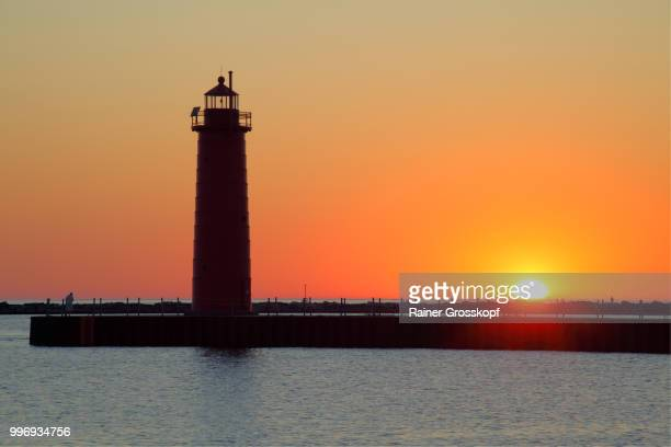 South Pierhead Lighthouse (1903) at sunset