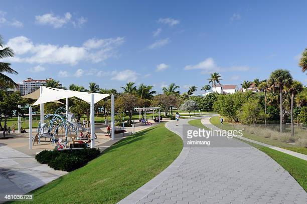 south pointe park at south beach - miami beach south pointe park stock pictures, royalty-free photos & images