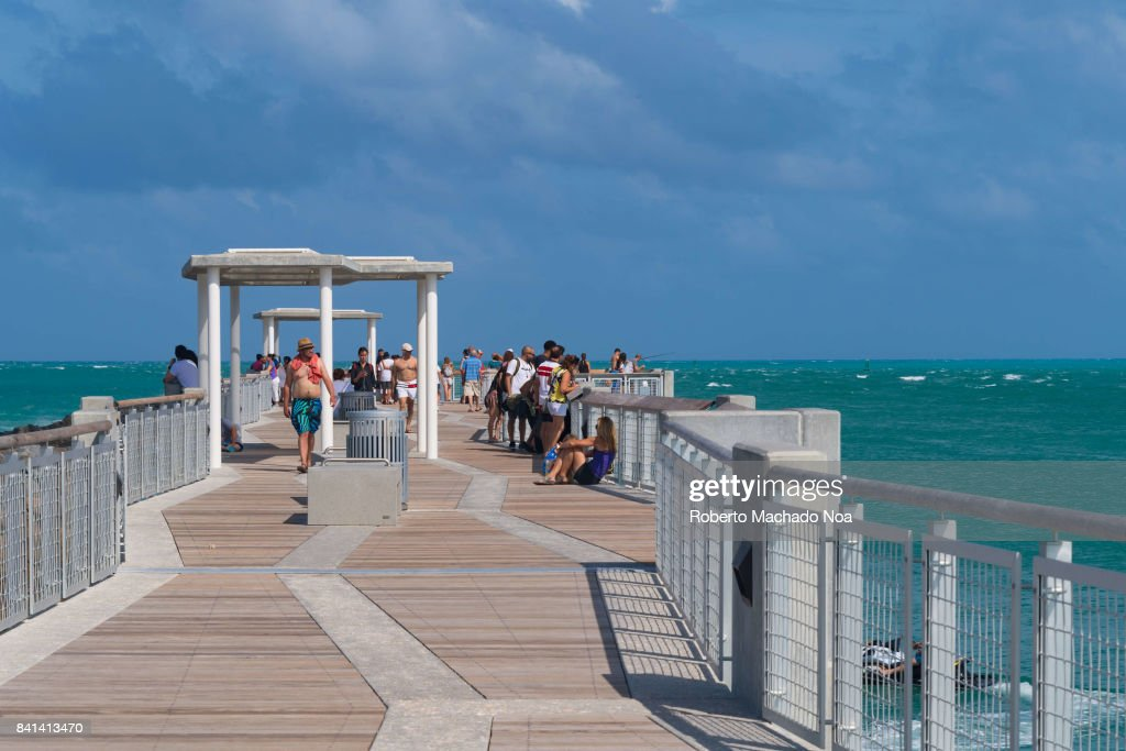 South Pointe Park Pier Is A Tourist Attraction In Miami Beach