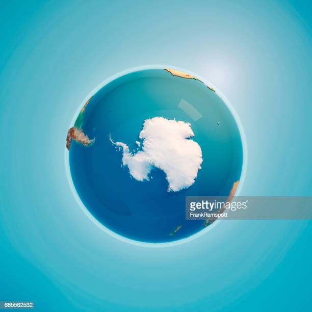 South Pole 3D Render Planet Earth