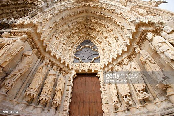 South Portal of West Facade of Reims Cathedral