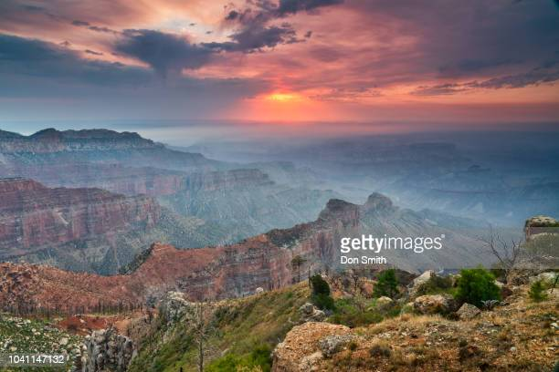 south rim grand canyon sunset - don smith stock pictures, royalty-free photos & images