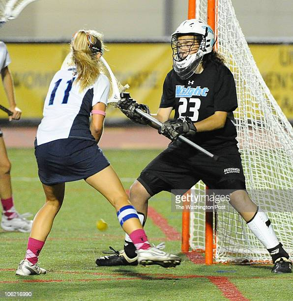 South River Mid Brooke Griffin fires a point blank shot against CM Wright goalie Heather McKee in the 1st half It was her 100th goal of the season on...