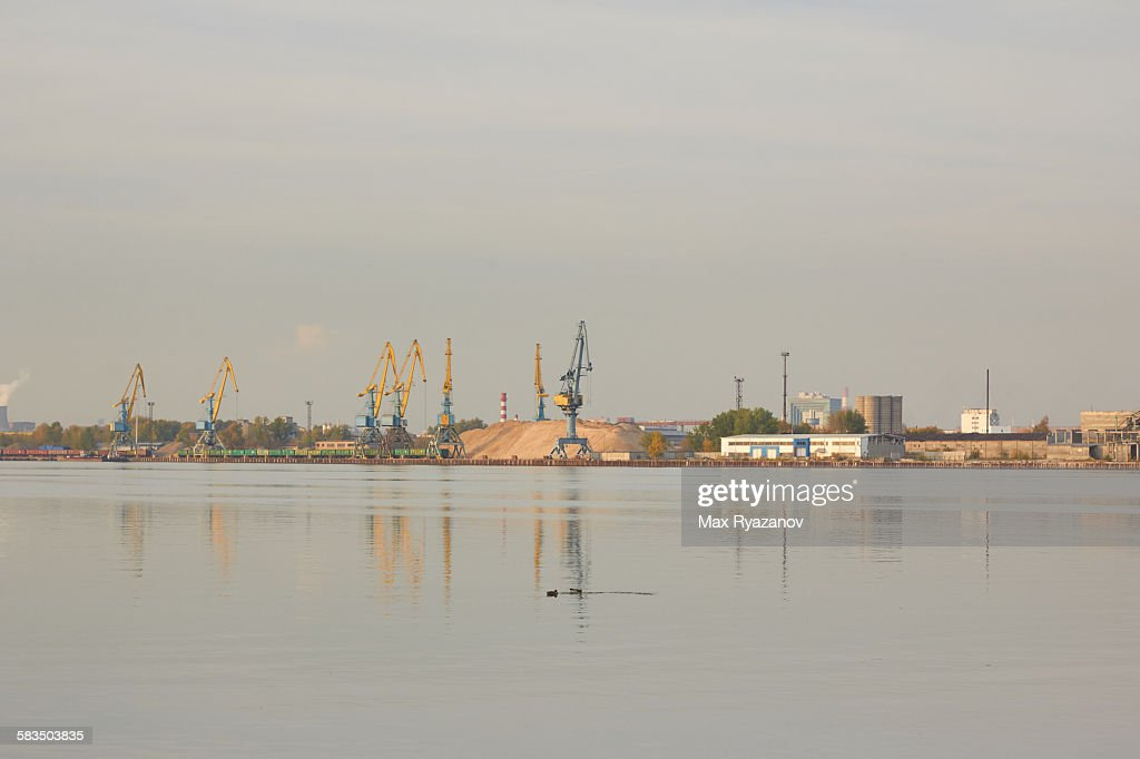 South River Port, Moscow : Stock Photo