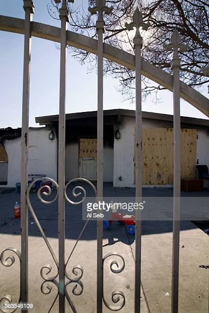 South San Jose Hills CA House located at 17412 Villa Park Street where fire ripped through last week Neighbor Alfredo Valadez 54 who lives across the...