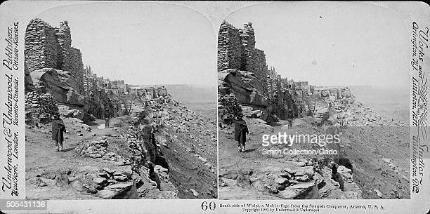 South side of Wolpi a Moki refuge from the Spanish conqueror Arizona USA 1900 From the New York Public Library