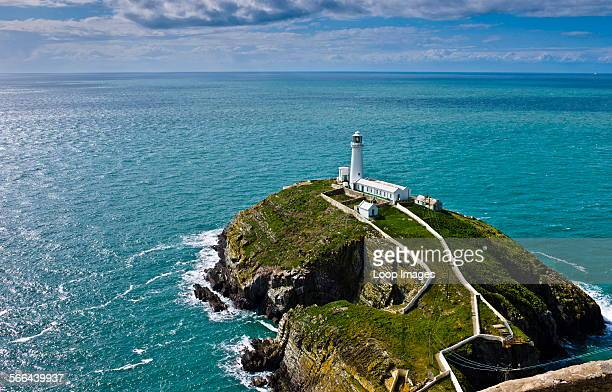 South Stack Lighthouse situated just off Holy Island on the North West coast of Anglesey