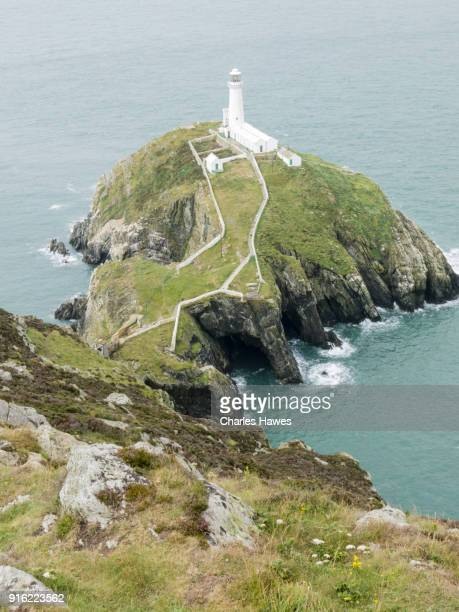 South Stack Lighthouse:The Wales Coast Path on the north and west coast of Anglesey