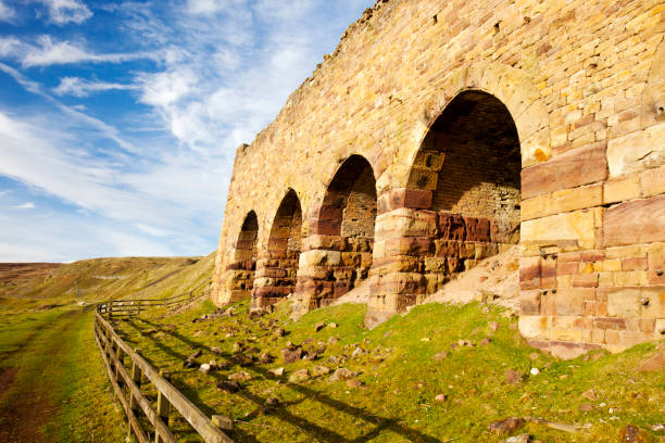 South Stone Kilns, old kilns used to calcine the ironstone mined in Rosedale in the North York Moors, UK.