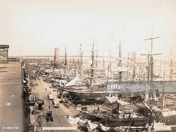 South Street Seaport in clipper ship era.