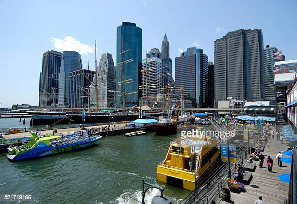 south street seaport in new york city - south street seaport stock pictures, royalty-free photos & images