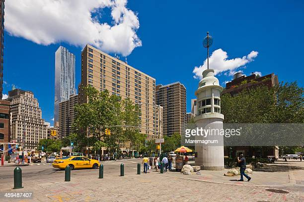 south street seaport, the town from pier 17 - south street seaport stock photos and pictures