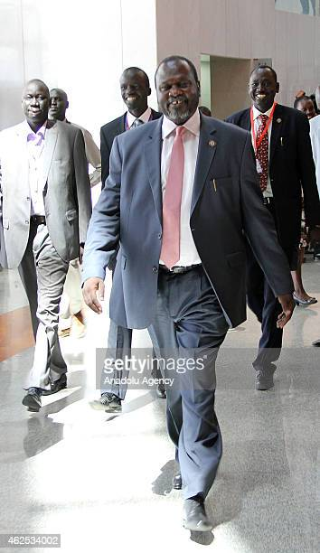 South Sudan former deputy minister Riek Machar attends 24th Ordinary Session of the African Union on January 30 2015 in Addis Ababa Ethiopia