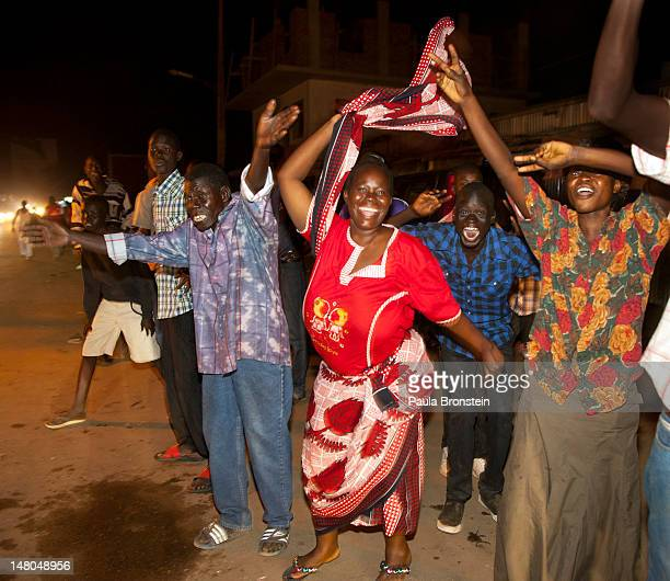 South Sudanese celebrating into the night South Sudan's first anniversary of it's Independence day July 9, 2012 in Juba, South Sudan. After breaking...