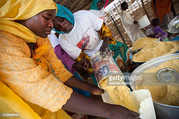 South Sudanese fled to Rwanda refugee camp due to the clashes live under difficult life condtions in South Darfur states city Tawila on March 4 2014...