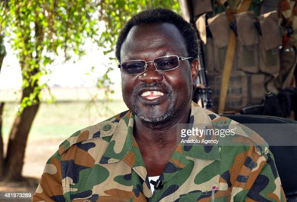 South Sudanese former President Riek Machar and Riek Machar forces at the military camp in the Ismaila village of Jonguei state BorSouth Sudan on...