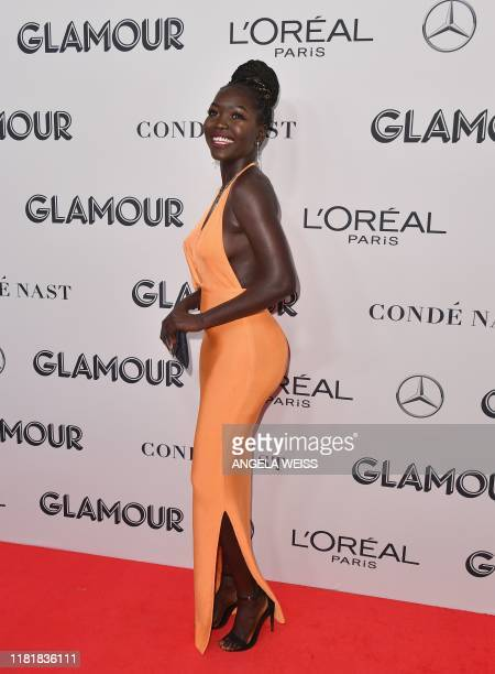 South Sudanese model Nyakim Gatwech attends the 2019 Glamour Women Of The Year Awards at Alice Tully Hall Lincoln Center on November 11 2019 in New...
