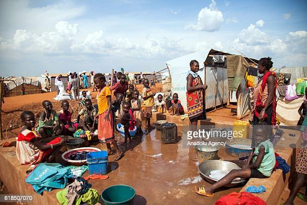 South Sudanese people, who were internally relocated because of the civil war and various violent attacks, are seen at Civilian protection camp...