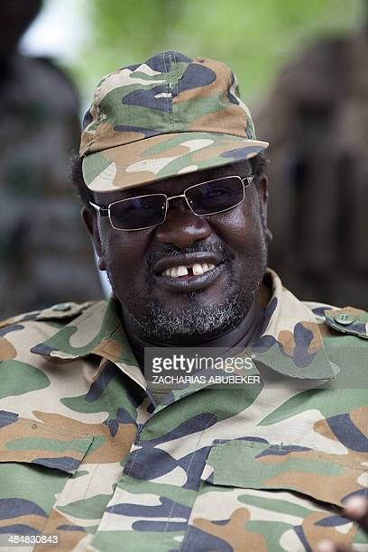 South Sudanese rebel leader and former vice president Riek Machar sits in an army barracks in South Sudan's Upper Nile State on April 14 2014...