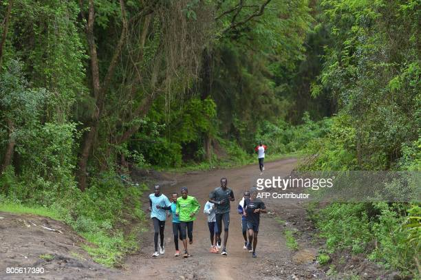 South Sudan's Gai Nyan , Somalia's Ahmed Bashir , South Sudanese refugees who took part in the Rio olympic games James Nyang Chiengjiek and Rose...