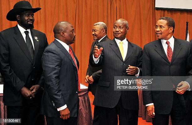 South Sudan's President Salva Kiir Democratic Republic of Congo's President Joseph Kabila Uganda's President Yoweri Museveni and Tanzania's President...