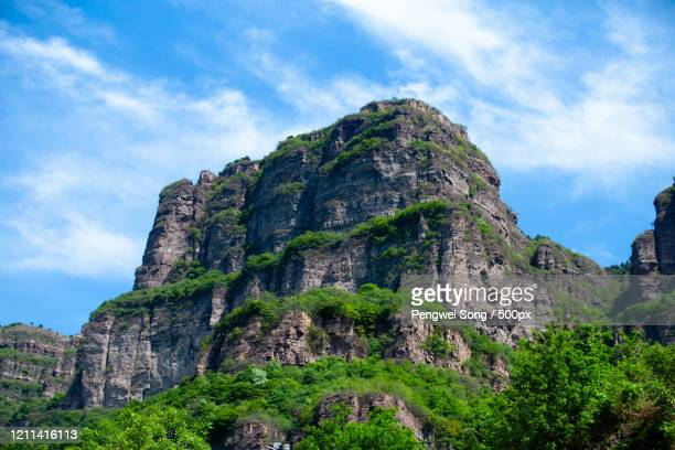south taihang mountain in clear sky, china - 太行山脈 ストックフォトと画像