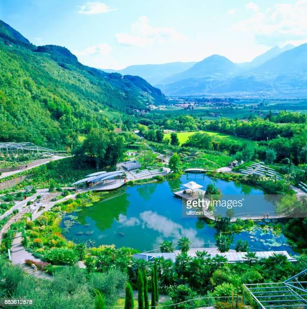 South Tyrol Alto Adige landscapeBurgraviato MeranoMaia Alta castello castel Trauttmansdorff i giardini del castello Trauttmansdorff Gardens of...